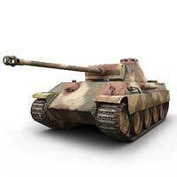 german sdkfz panther panzer 3d obj