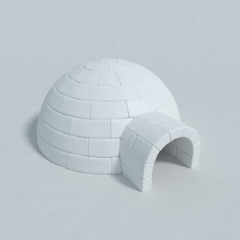 igloo blender 3d model