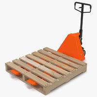 pallet jack wooden 3d max