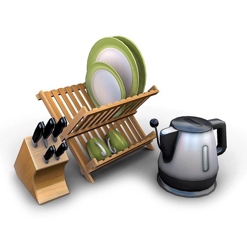 kitchen items 3d model