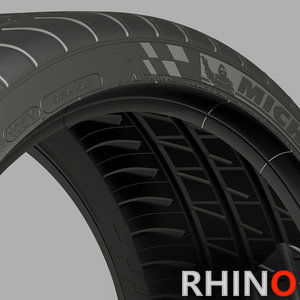 michelin tire sidewalls 3d model