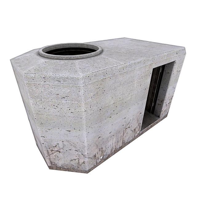 3d bunker ringstand tobruk model