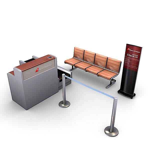 3dsmax airport furniture pack