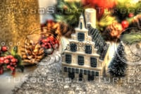 CHRISTMAS DELFT HOUSE HDR