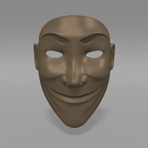 mask fashion 3d model