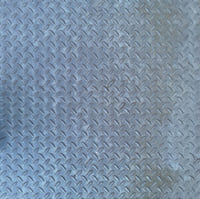 Ribbed metal plate