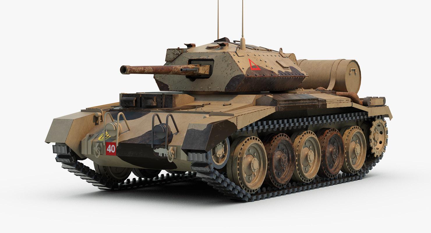 3d 3ds crusader tanks