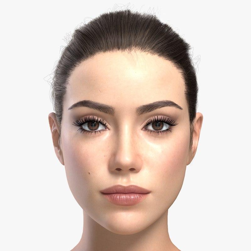 woman girl female 3d model