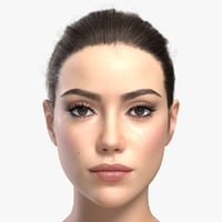 woman girl female 3d model
