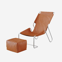 lounge chair les mossettes 3d model