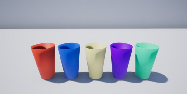 3D simple cup