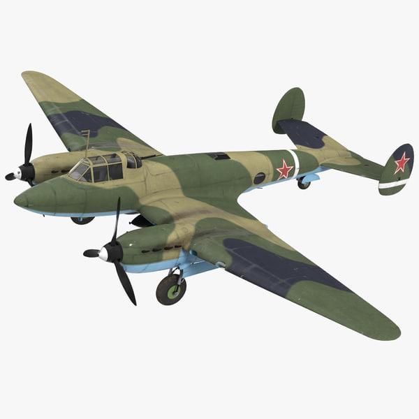 soviet wwii light bomber 3D model