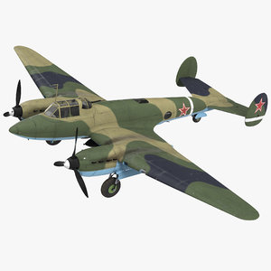 soviet wwii light bomber 3D model