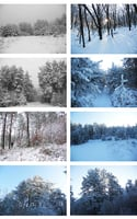 Set of HD background winter images