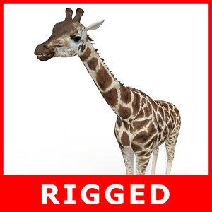 realistic giraffe 3d max
