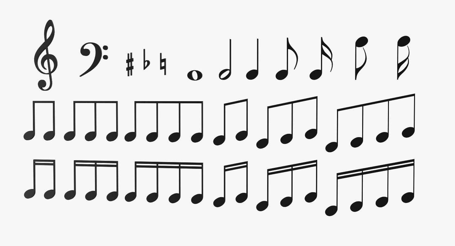 Model musical notes symbols 3d model musical notes symbols buycottarizona
