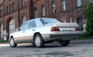 mercedes-benz w124 300d 1992 3d model