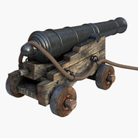 old cannon obj