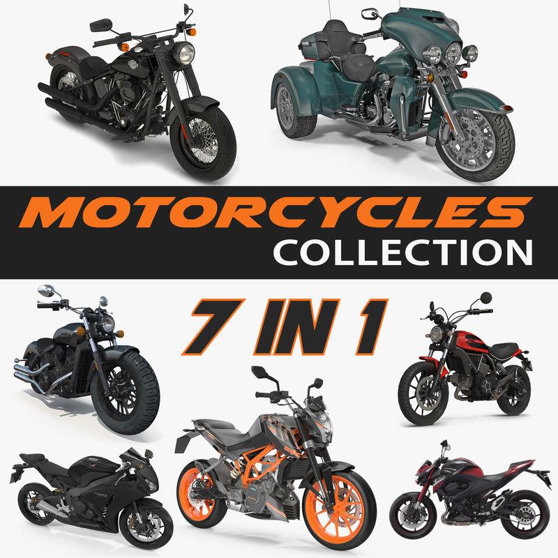 motorcycles kawasaki sport 3D model