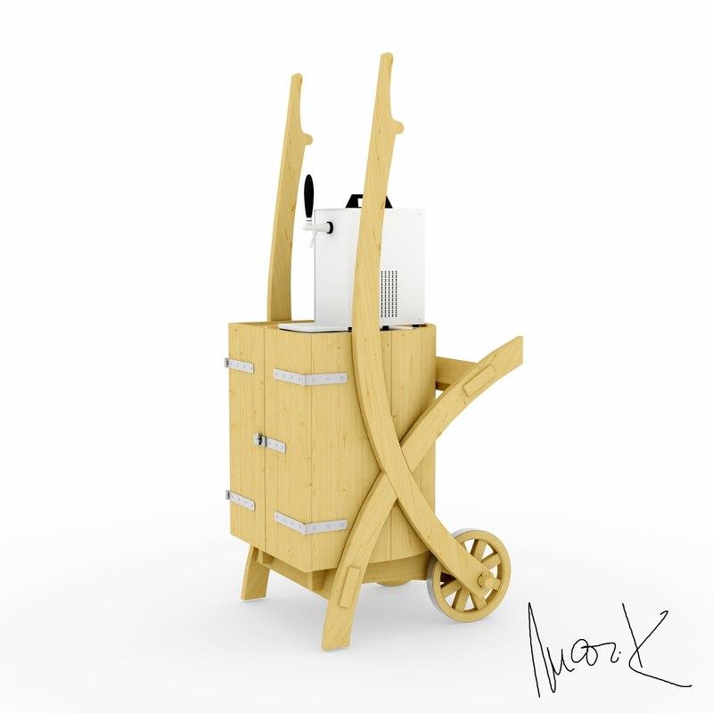 maya wheelbarrow cooler