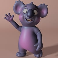 cartoon koala rigged anime model