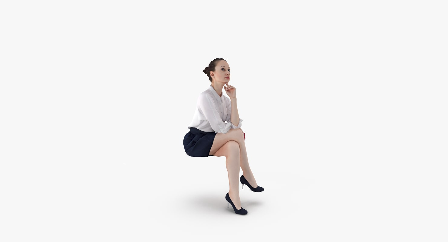 woman casual 3d model