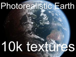 3D photorealistic earth 10k maps