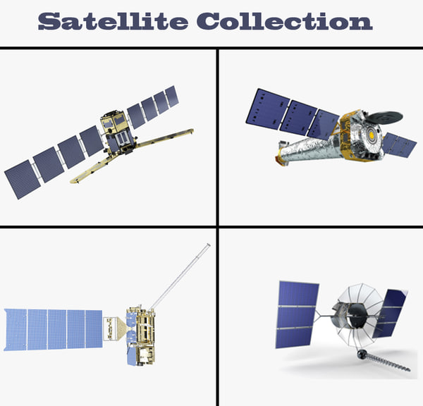 3d model satellite goes r