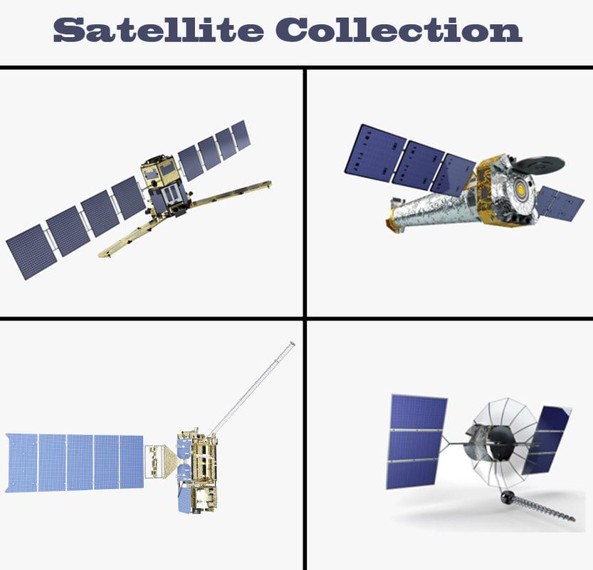 3d model satellite goes r