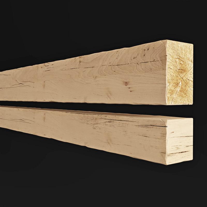 wooden decorative element 3D model
