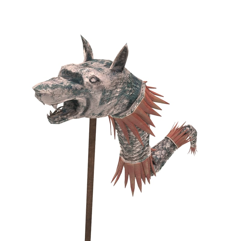 wolf head standard 3d max