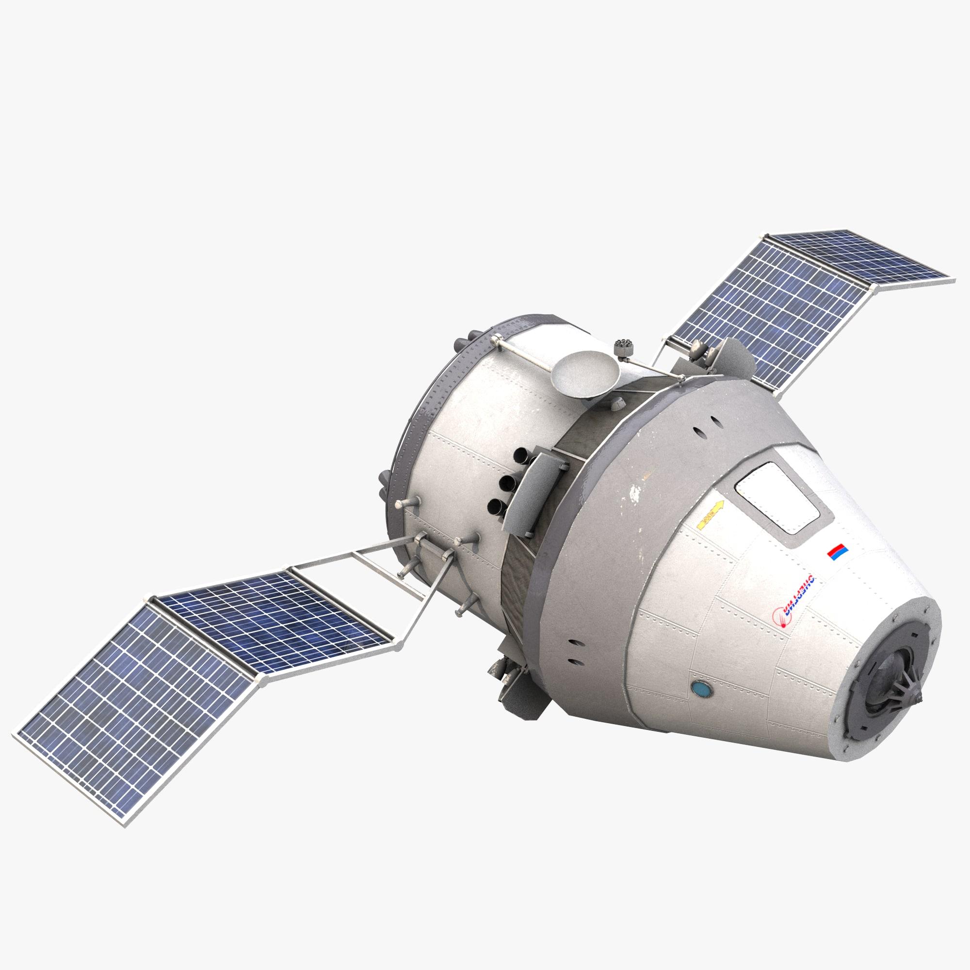 spacecraft federaciya 3d model