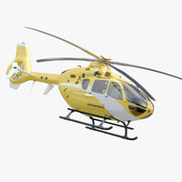 Animated EC 135 Yellow