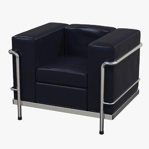 3d corbusier lc3 sofa