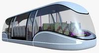 futuristic passenger transporter 3d model
