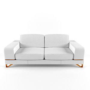 bianca leather standard sofa dwg
