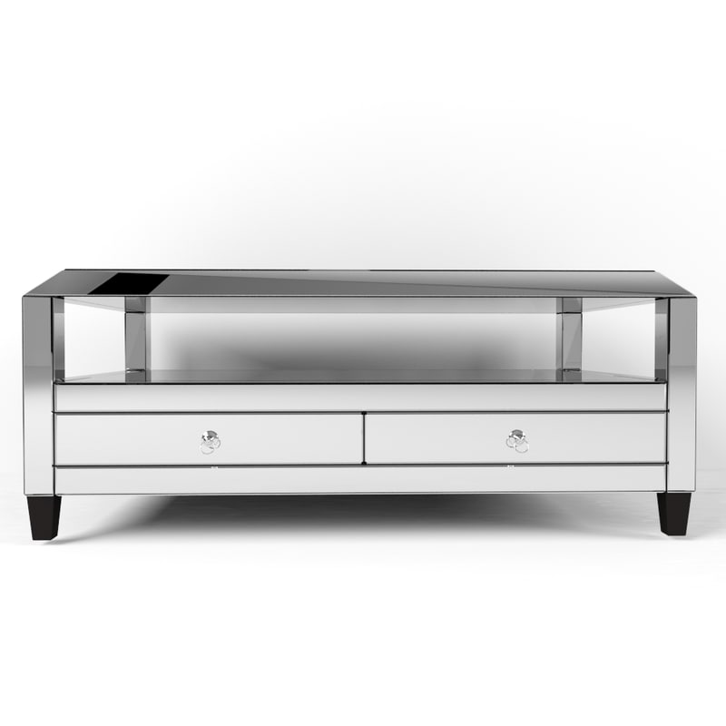 montreal mirrored cocktail table 3d model