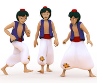 3d aladdin male man