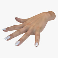 female human hand 3D model