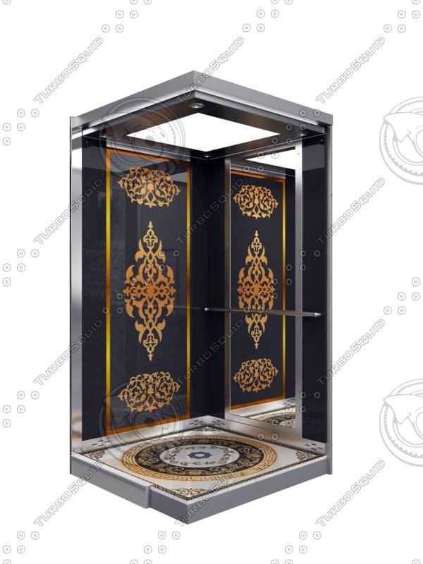 3d model modelarchitecture elevator
