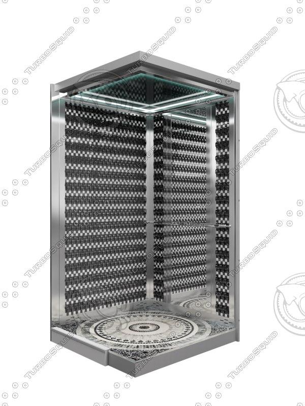 3d model lift elevator