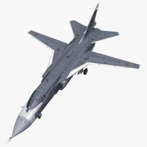 3d su24 sukhoi su-24 model