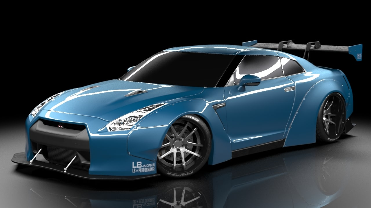 nissan gtr liberty walk 3d model. Black Bedroom Furniture Sets. Home Design Ideas