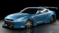 nissan gtr liberty walk 3d model