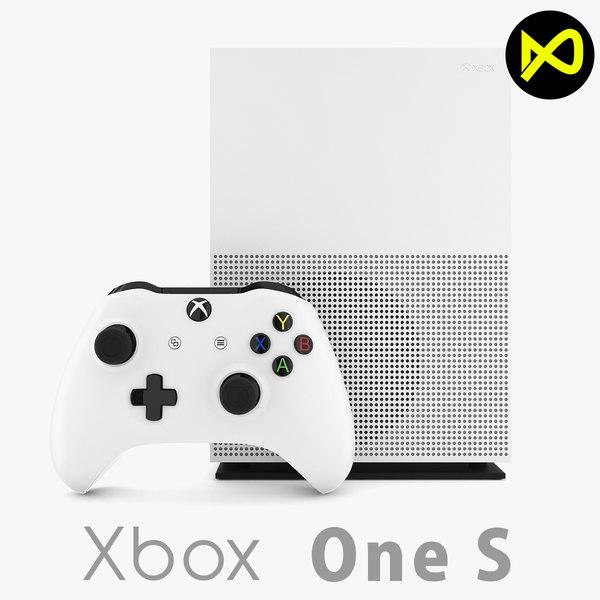 3d model xbox s