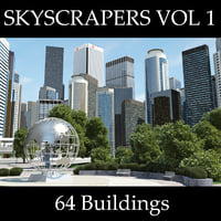 buildings skyscrapers 3d max