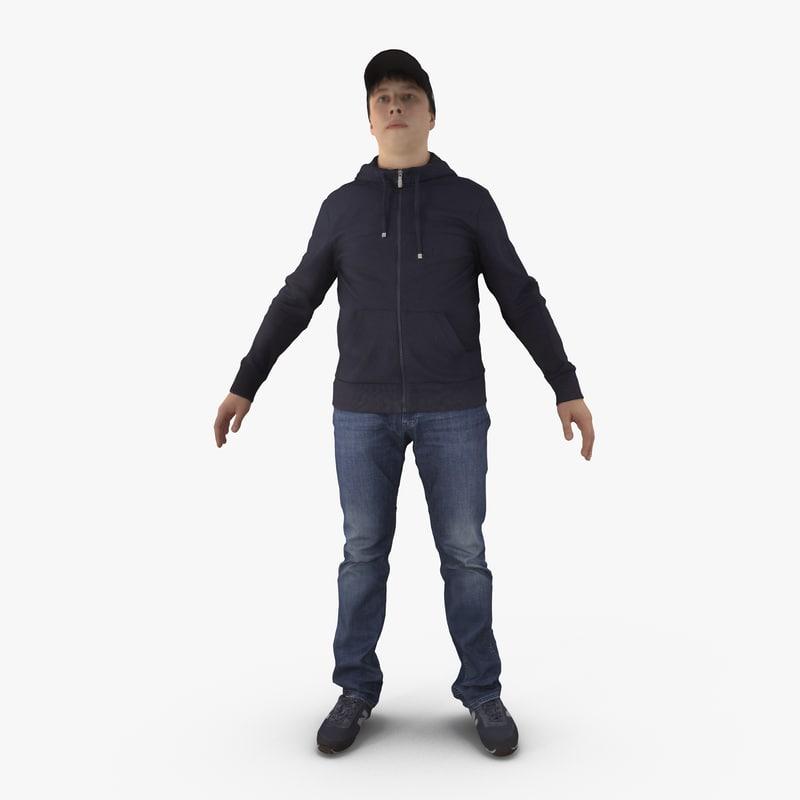human man 3d max