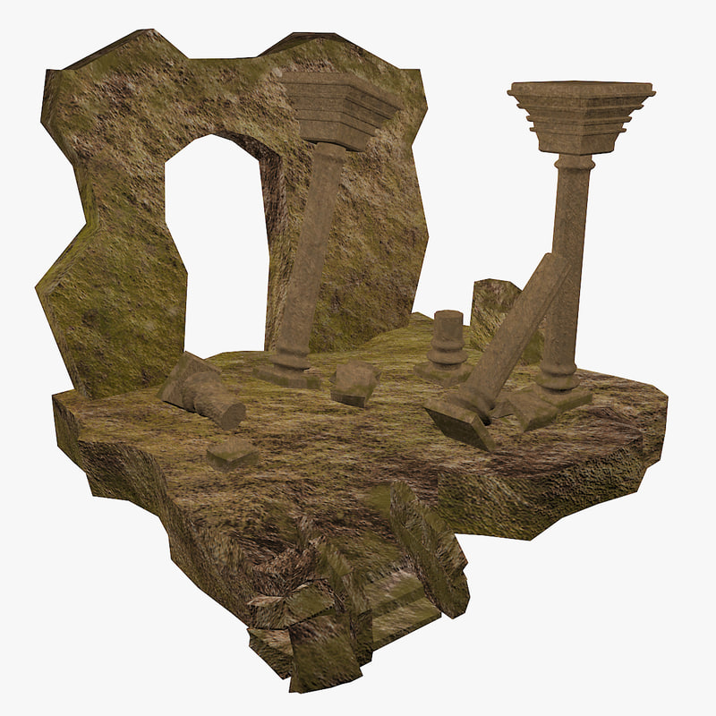 column destroyed 3d max
