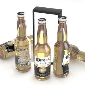 beer corona extra 3d model