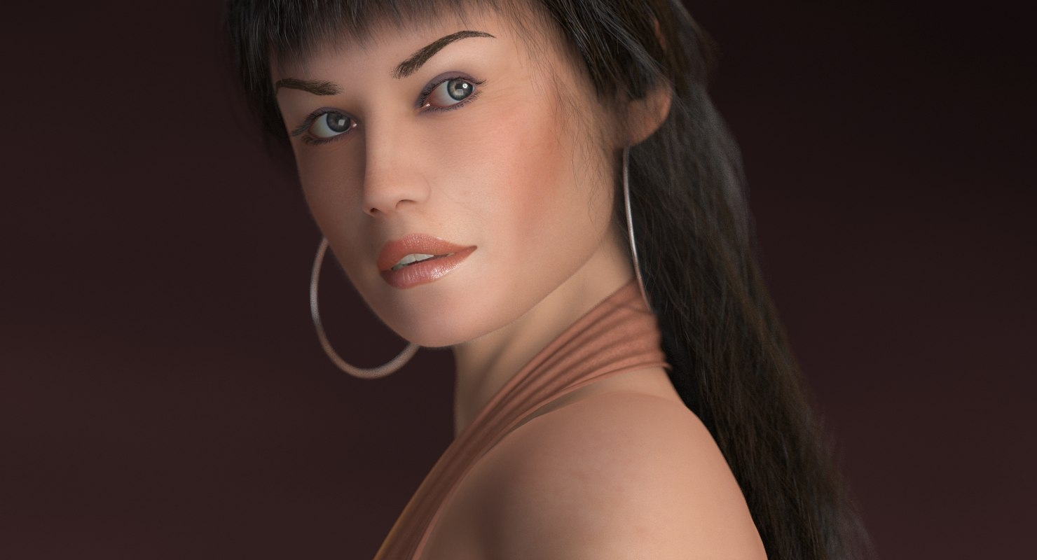 3d laura girl female model